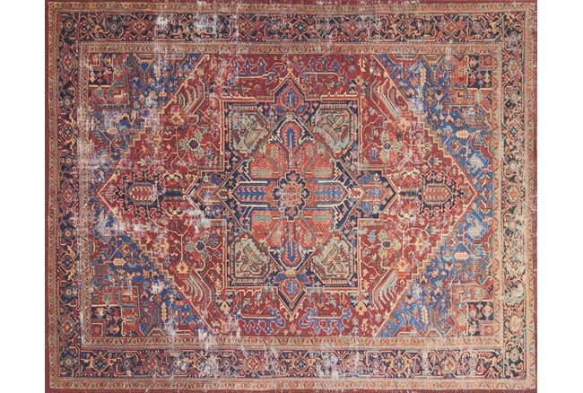 """2'3""""x3'7"""" Rug-Magnolia Home Lucca Red/Blue By Joanna Gaines - 360"""