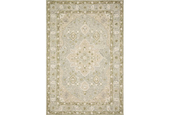 60X90 Rug-Magnolia Home Ryeland Grey/Sage By Joanna Gaines - 360