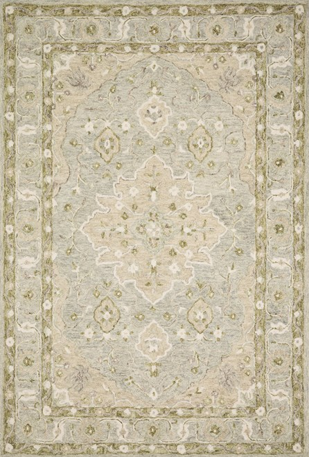 93X117 Rug-Magnolia Home Ryeland Grey/Sage By Joanna Gaines