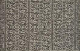 27X45 Rug-Magnolia Home Warwick Silver/Black By Joanna Gaines