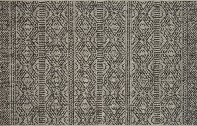 27X45 Rug-Magnolia Home Warwick Silver/Black By Joanna Gaines - 360