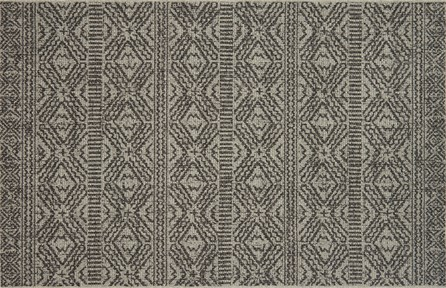 59X91 Rug-Magnolia Home Warwick Silver/Black By Joanna Gaines