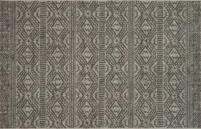 59X91 Rug-Magnolia Home Warwick Silver/Black By Joanna Gaines - 360