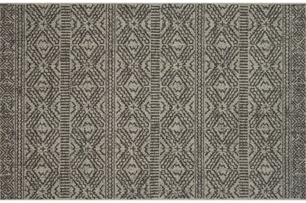 94X129 Rug-Magnolia Home Warwick Silver/Black By Joanna Gaines