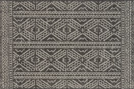 24X45 Rug-Magnolia Home Warwick Black/Silver By Joanna Gaines