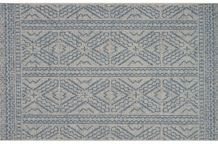 24X45 Rug-Magnolia Home Warwick Silver/Azure By Joanna Gaines
