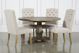 Caden 5 Piece Round Dining Set With Blitmore Chairs