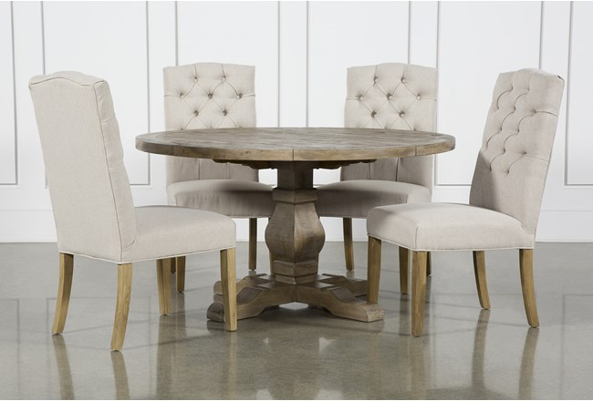 Caden 5 Piece Round Dining Set With Biltmore Chairs - 360