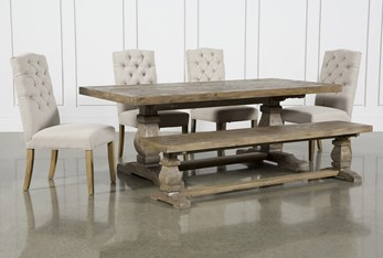 Caden 6 Piece Rectangle Dining Set With Biltmore Chairs