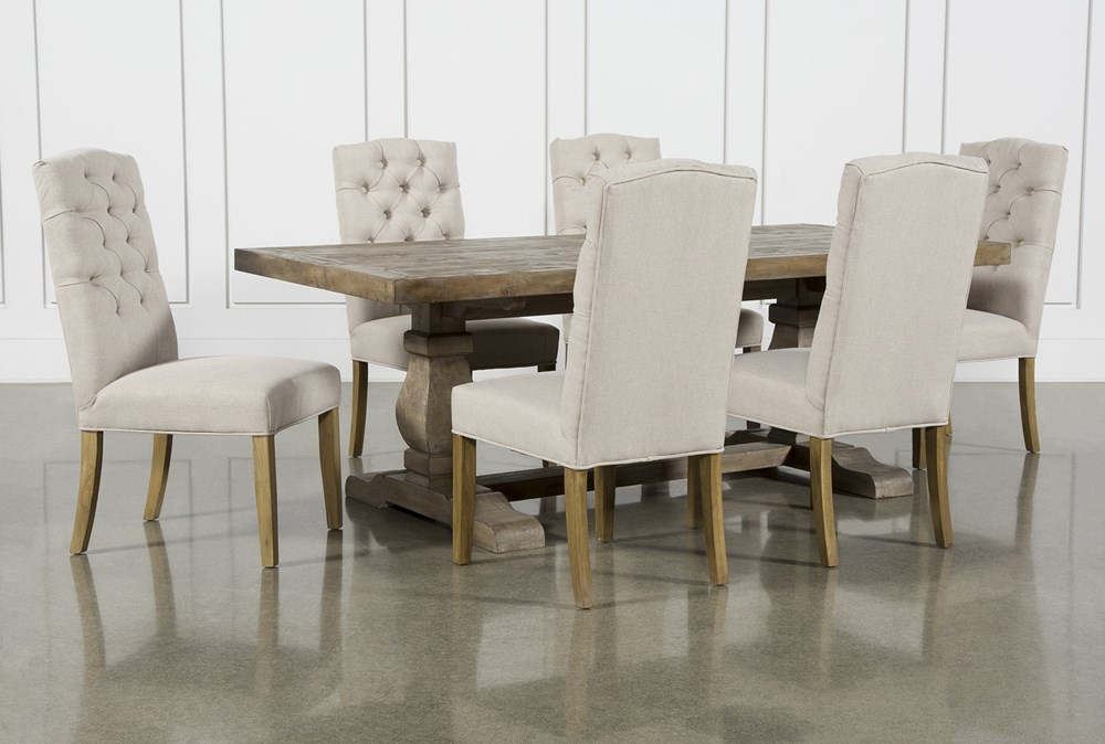 Caden 7 Piece Rectangle Dining Set With Biltmore Chairs