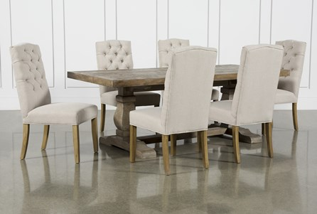 Caden 7 Piece Rectangle Dining Set With Biltmore Chairs - Main