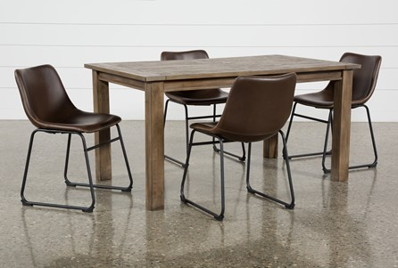 Highlands 5 Piece Dining Set With Cobbler Chairs