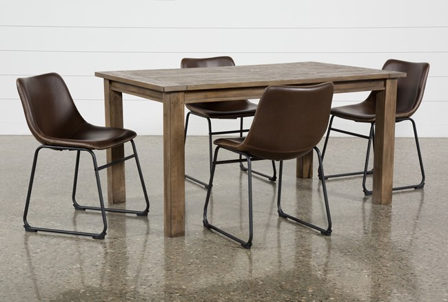 Highlands 5 Piece Dining Set With Cobbler Chairs - 360