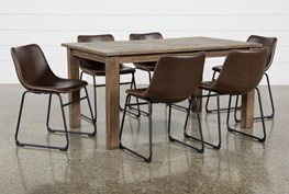 Highlands 7 Piece Dining Set With Cobbler Chairs