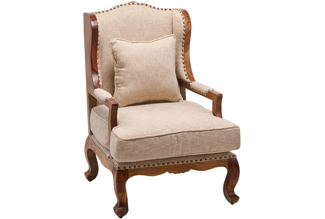Otb Bergere Ivory Accent Chair  - 360
