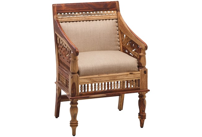 Hand Carved Jodhpur Chair - 360