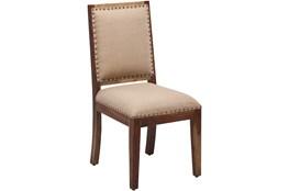 Nailhead Beige Dining Chair