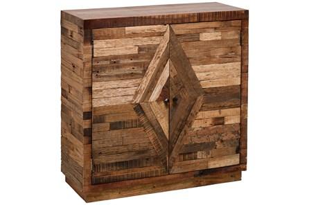 2 Door Pieced Wood Diamond Cabinet