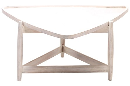 White Wash Triangle Coffee Table