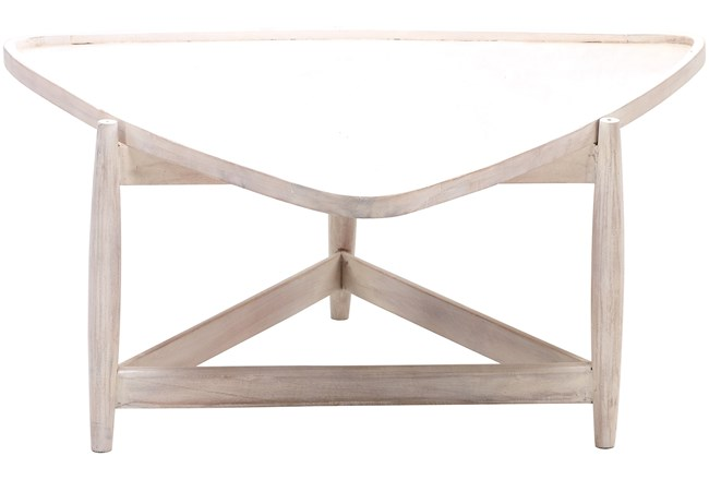 White Wash Triangle Coffee Table - 360
