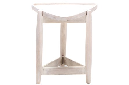 White Wash Triangle End Table