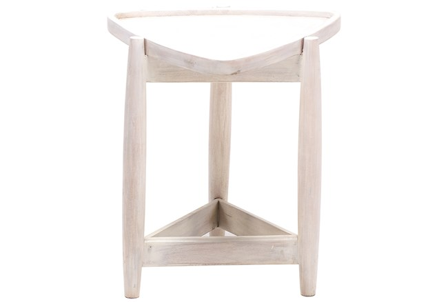 Otb White Wash Triangle End Table  - 360