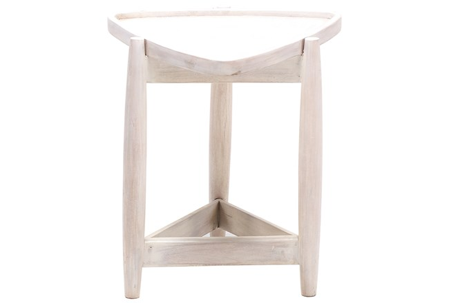 White Wash Triangle End Table - 360