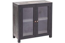 Black 2 Door Glass Cabinet