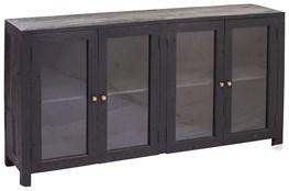Black 4 Door Glass Sideboard