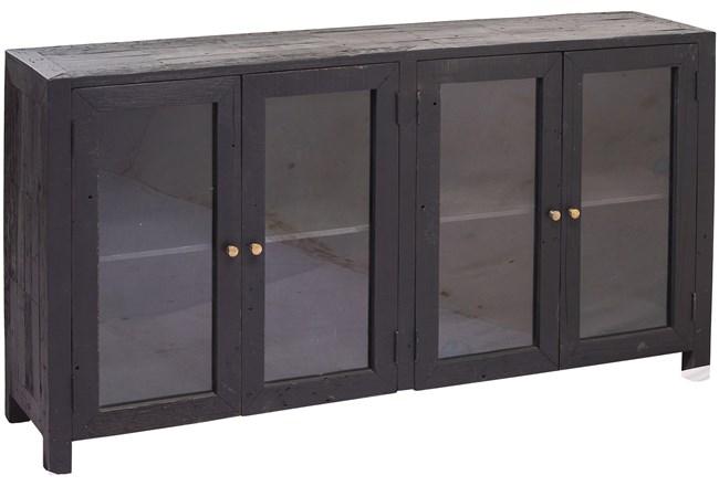 Black 4 Door Glass Sideboard - 360