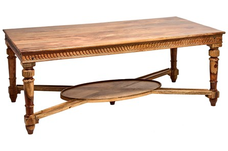 Rectangle Carved Edge Dining Table