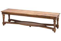 Carved Edge Dining Bench