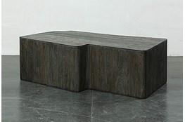 Dark Elm Dimensional Coffee Table