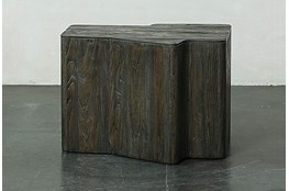 Dark Elm Dimensional End Table