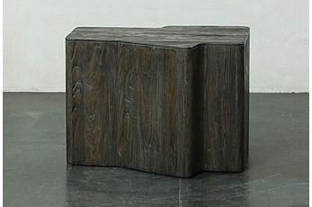 Dark Elm Dimensional End Table