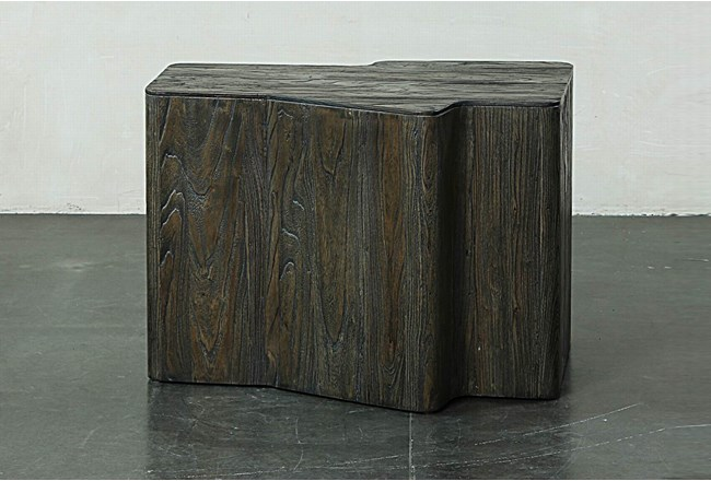 Dark Elm Dimensional End Table  - 360