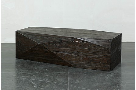 Dark Brown Faceted Coffee Table