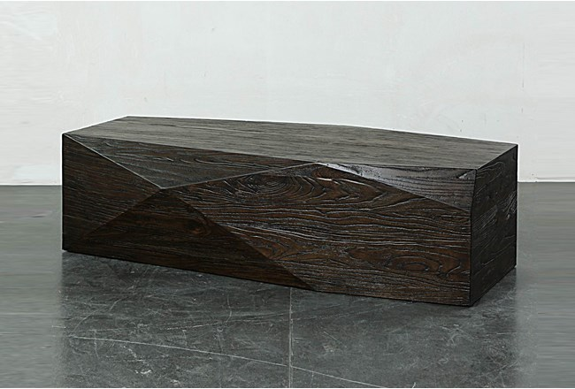 Dark Brown Faceted Coffee Table - 360