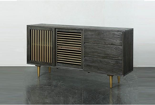 Dark Brown Iron + Wood Sideboard  - 360