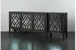 Dark Brown Jumbo Mirrored Front Sideboard