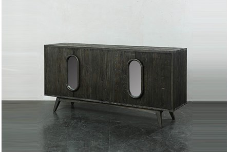 Dark Brown Window Front Sideboard