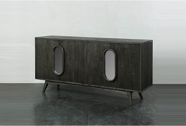 Dark Brown Window Front Sideboard  - 360
