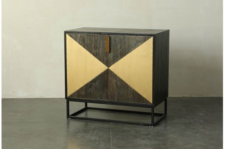 Dark Brown + Triangle Inlay Cabinet