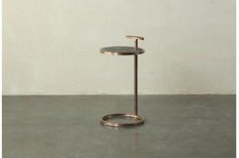 Dark Brown + Brass Accent Table