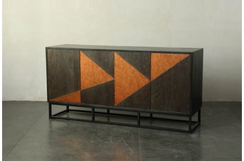 Dark Brown + Copper Inlay Sideboard