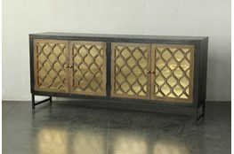 Natural + Copper Mirrored Sideboard