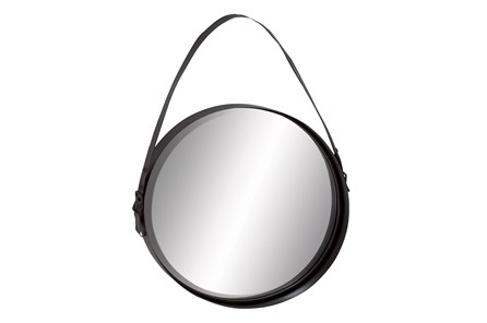 Wall Mirror-Round With Strap - Main