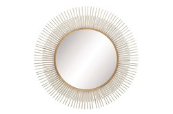 Wall Mirror-Round Metal Sunburst 36X36