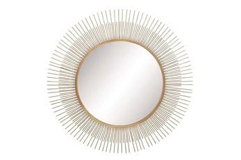 Wall Mirror-Round Metal Sunburst 36X36