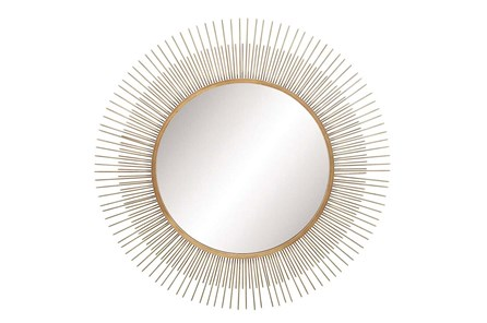 Wall Mirror-Round Metal Sunburst 36X36 - Main